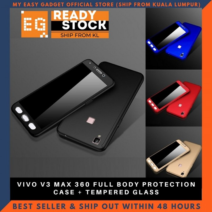 new product f5ce7 6a0c7 vivo v3 max 360 full body protection case + tempered glass
