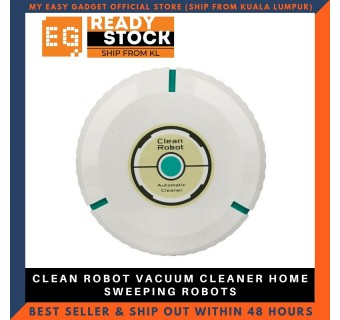 (FREE MicroFibre x 20) Clean Robot Vacuum Cleaner Home Sweeping Robots for Vacuuming Dust Cleaner Black Round Automatic Sweeper Design