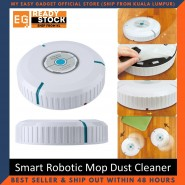 Mini Auto Cleaner Robot Microfiber Smart Robotic Mop Dust Cleaner Automatically Household Cleaning Tool Floor Corners Crannies (FREE MicroFibre x 20)