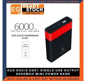 DUX DUCIS D061 SINGLE USB OUTPUT 6000MAH MINI POWER BANK
