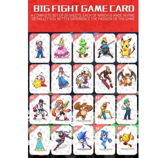 20 PCS SUPER SMASH BROS. ULTIMATE AMIIBO NFC TAG CARDS FOR NINTENDO SWITCH