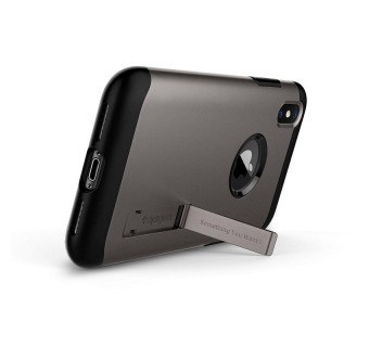 SPIGEN SLIM ARMOR PROTECTIVE CASE FOR APPLE IPHONE X - GUNMETAL [CLEARANCE]
