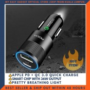 ROCK H5 PD QC 3.0 DUAL PORT QUICK CHARGE 36W CAR CHARGER