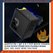 ROCK SPACE SUGAR PD QC 3.0 FAST CHARGE 30W TRAVEL CHARGER