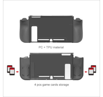 Dobe Nintendo Switch 3-IN-1 Protective Pack - TPU Protective Case + Tempered Glass Screen Film + Thumbstick Cover for NS