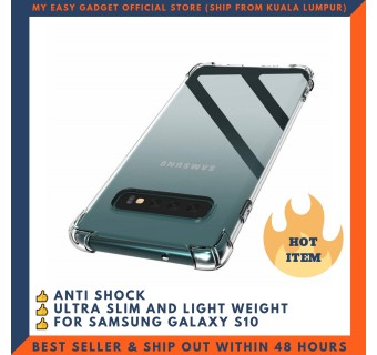 SAMSUNG GALAXY S10, S10 PLUS, S10E ANTI SHOCK DROP PROOF TRANSPARENT PROTECTION COVER CLEAR CASE