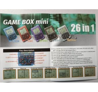 GAME BOX MINI BRICK GAME KEY CHAIN 26 IN 1 GAME BOY [CLEARANCE]