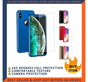 IPHONE X, XS, XR, XS MAX 360 FULL BODY PROTECTION CASE + TEMPERED GLASS
