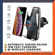 AUTOMATIC CLAMPING QI WIRELESS CAR CHARGER FOR IPHONE X XS XR ANDROID AIR VENT PHONE HOLDER 360 DEGREE ROTATION CHARGING MOUNT BRACKET