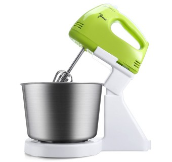 2 IN 1 180W 7-SPEED ELECTRIC EGG BEATER MIXER MANUAL SELF-TURNING STAINLESS STEEL BEATER HAND BLENDER CREAM STIRRING COOKING TOOL