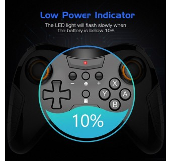 PRO WIRELESS COMTROLLER TNS-1724 BLUETOOTH WIRELESS GAME CONTROLLER GAMEPAD FOR NINTENDO SWITCH PRO NS GAME CONSOLE
