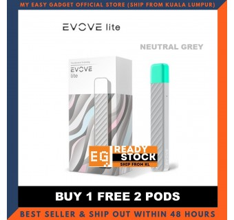 Evove Lite Vape E-cigarette Starter Kit Device & Refill Pod Cartridge Original Product Malaysia Seller