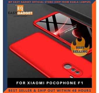 XIAOMI POCOPHONE F1 360 FULL BODY PROTECTION CASE + TEMPERED GLASS