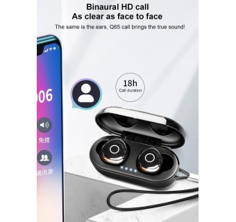 OVEVO Q65 TWS BLUETOOTH V5.0 TOUCH CONTROL IPX7 WATERPROOF EARPHONES EARBUDS
