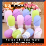 3pcs Portable Silicone Travel Bottles Toiletries Containers Shampoo Cosmetic Bottles 38ML 60ML 80ML 3 Size In One Pack