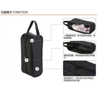 Travel Shoe Bag with Transparent Window 33cm x 12cm x 12cm Waterproof Case Bag - Blue (L SIze)
