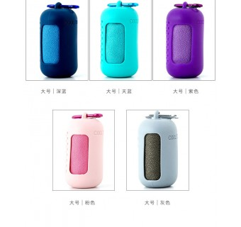 Outdoor Sports Portable Cool Quick Drying Towel With Silicone Case