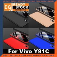 Vivo Y91c Case 360 Full Body Protection Case + Tempered Glass
