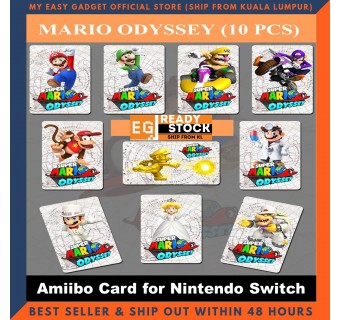 20 Pcs Mario Kart 8 / 10 Pcs Super Mario Odyssey Wedding Amxxbo NFC Tag Cards For NS Switch