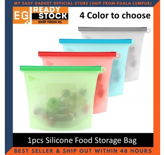 1pcs Reusable Silicone Food Storage Bag Food Grade Vegetable Storage Bag Versatile Preservation Bag Container Reusable and Sealable