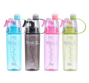 Sport Spray Water Bottle Drinking Bottle Sport Bottle Gym Outdoor Cycling Hiking Camping Climbing Traveling School Botol AirGift 600ML