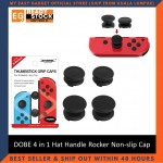DOBE 4 in 1 Hat Handle Rocker Non-slip Cap Thumbstick Grip Caps For Nintendo Switch TNS-1873