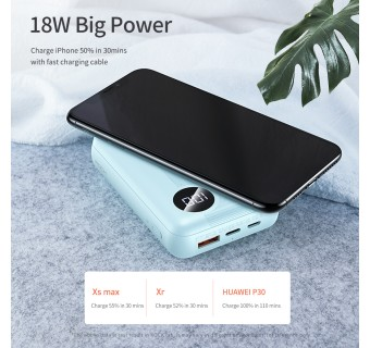 ROCK P75 Mini PD 2 in 1 Fast Wireless Charger Powerbank 10000mAh Digital Display