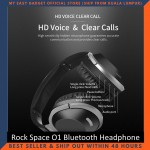 Rock Space O1 Wireless Music Bluetooth Headphone Foldable With Mic