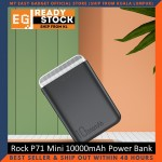 Rock P71 Mini 10000mAh Power Bank Fast Charge Dual USB Output