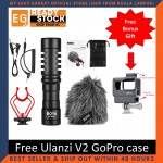 Boya BY-MM1 Cardioid Microphone Mic 3.5MM Plug for GoPro Free (ULANZI V2 Housing Case Vlogging Frame)