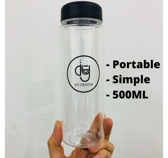 DY Fruits Bottle 500ml Plastic Sports Water Bottle For Outdoor, Camping, Running, Gym, Cycling - Leakproof, Ideal For Adults & Kids