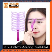 8-Piece New Fashion Eyebrows Shaping Thrush Card Eyebrow Stencils Tools Threading Artifact Thrush Aid Card Eyebrow Defining Mold
