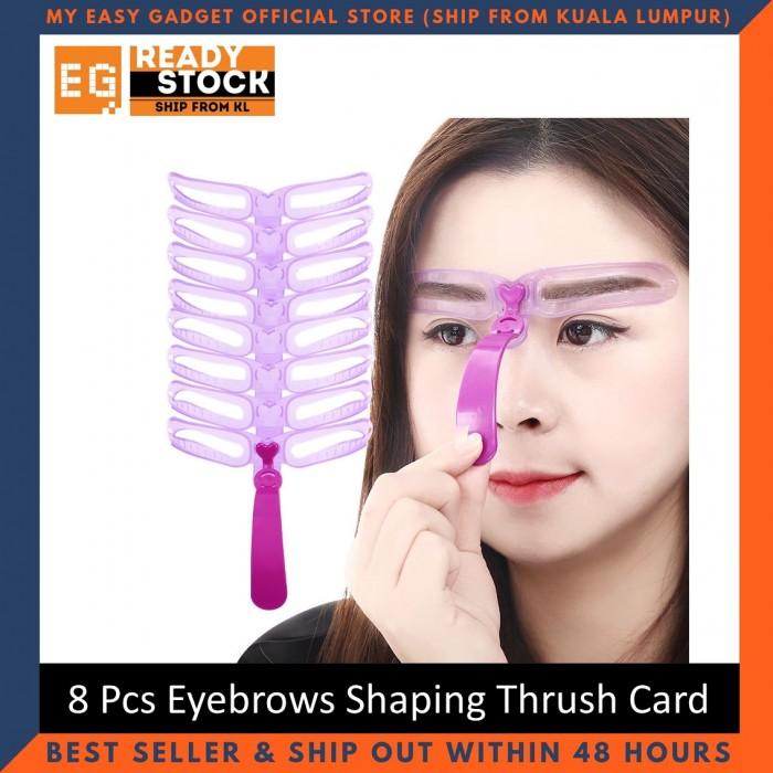 8-Piece New Fashion Eyebrows Shaping Thrush Card Eyebrow ...