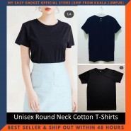 Unisex Round Neck Short Sleeve Cotton T-Shirts
