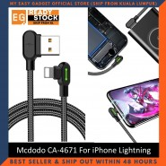 Mcdodo CA-4671 L Shape LED iPhone Lightning Fast Charging Cable 120cm