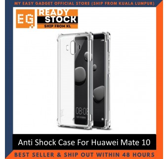 Huawei Mate 10 / Mate 10 Pro Anti Shock bumper case TPU Transparent Shockproof Full Protection Clear Cover