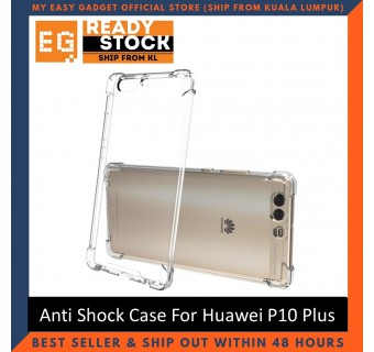 Huawei P10 / P10 Plus / P10 Lite Anti Shock bumper case TPU Transparent Shockproof Full Protection Clear Cover