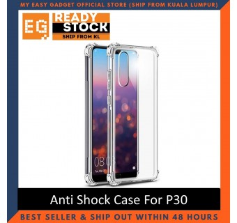Huawei P30 / P30 Pro Anti Shock bumper case TPU Transparent Shockproof Full Protection Clear Cover