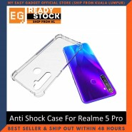 Realme 5 Pro Anti Shock bumper case TPU Transparent Shockproof Full Protection Clear Cover