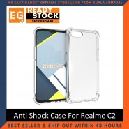 Realme C2 Anti Shock bumper case TPU Transparent Shockproof Full Protection Clear Cover