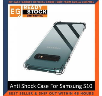 Samsung S10 / S10 Plus / S10E Anti Shock bumper case TPU Transparent Shockproof Full Protection Clear Cover