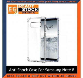 Samsung Note 8 Anti Shock bumper case TPU Transparent Shockproof Full Protection Clear Cover