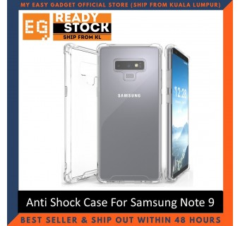 Samsung Note 9 Anti Shock bumper case TPU Transparent Shockproof Full Protection Clear Cover