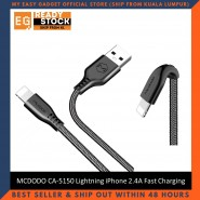 MCDODO CA-5150 Lightning iPhone 2.4A Fast Charging Braided Cable
