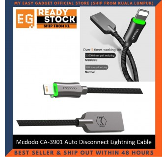 Mcdodo 1.2M Auto Disconnect Auto Recharge Lightning Cable Fast Charge CA-3901