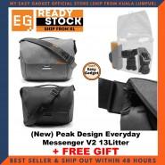 Peak Design Everyday Messenger 13L 13 Liter V2 Overhauled Shoulder Strap Design For Better Comfort + Adjustment, & Elimination Of Slippage