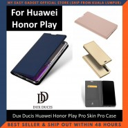 Huawei Honor Play Case Flip Cover Dux Ducis Skin Pro Luxury Genuine Leather Magnetic Flip Cover Full Protective Casing