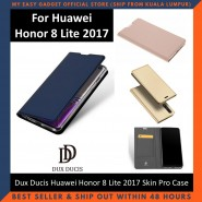 Huawei Honor 8 Lite 2017 Case Flip Cover Dux Ducis Skin Pro Luxury Genuine Leather Magnetic Flip Cover Full Protective Casing