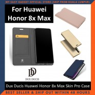 Huawei Honor 8X Max Case Flip Cover Dux Ducis Skin Pro Luxury Genuine Leather Magnetic Flip Cover Full Protective Casing