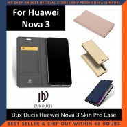 Huawei Nova 3 / Nova 3E / Nova 3i Case Flip Cover Dux Ducis Skin Pro Luxury Genuine Leather Magnetic Flip Cover Full Protective Casing